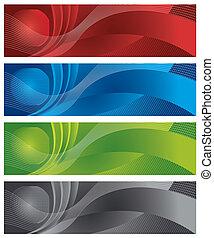 globo, e, halftone, digital, bandeiras