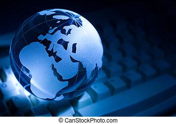 globo, e, tastiera computer