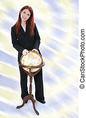 globo eretto, affari donna