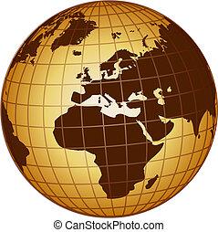 globo europa, africa