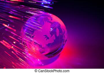 globo, fibra, ottico