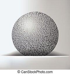 globo, fondo, astratto