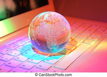 globo, fundo, tecnologia, alto