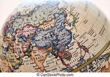 globo, leste, asia.