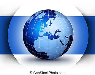 globo mondo, concetto, disegno
