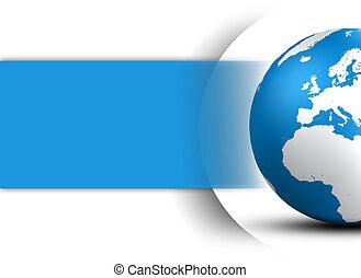 globo, mondo, concetto, disegno