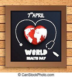 globo mondo, concetto, salute, giorno