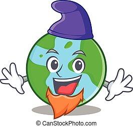 globo mondo, elfo, cartone animato, carattere