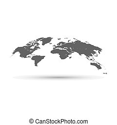 globo mondo, mappa