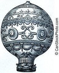 globo, montgolfier, 1873