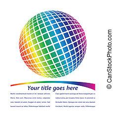 globo, multicolor, design.