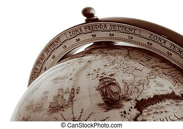 globo mundial, antigas, mapa