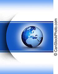 globo mundial, conceito, desenho