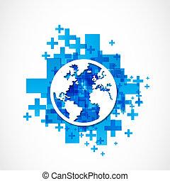 globo mundial, conceito, negócio