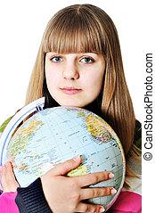 globo mundial, menina