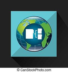 globo, mundo, conexão, dados alheiam, serviço