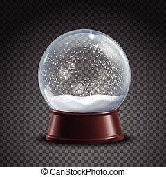 globo, neve, composição