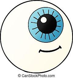 globo ocular, caricatura