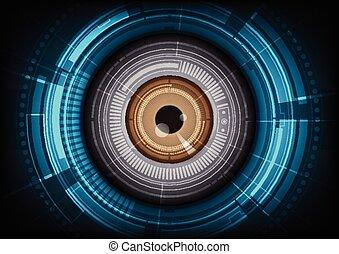globo ocular, tecnología, plano de fondo