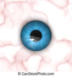 globo ocular, textura, mapa