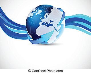 globo, plano de fondo