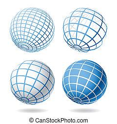 globo, projete elementos