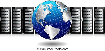 globo, rede, servidores
