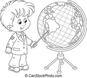 globo, scolaro