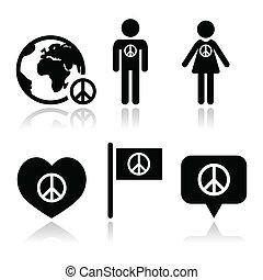 globo, sinal paz, ic, pessoas
