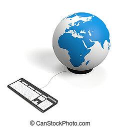 globo, teclado