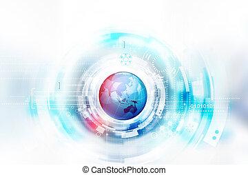 globo, tecnologia, fondo