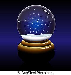 globo terráqueo de vidrio, navidad