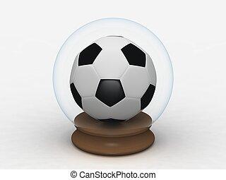globo terráqueo de vidrio, pelota, soccar