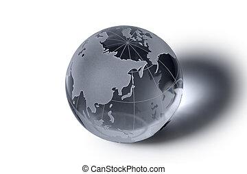 globo terráqueo de vidrio