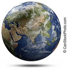 globo terra, -, ásia