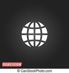globo terra, emblema