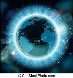 globo terra, fondo, mondo