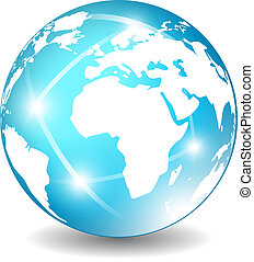 globo terra, icona