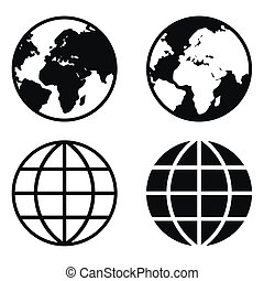 globo terra, icone