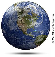 globo terra, -, stati uniti