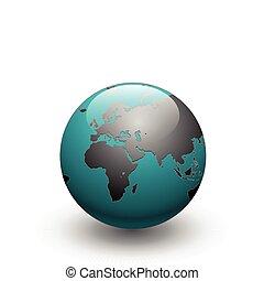 globo terra, vetorial