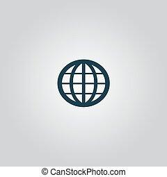 globo terra, vettore, emblem.