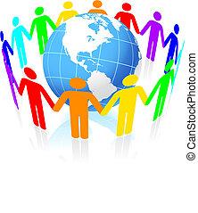 globo, unidas, pessoas