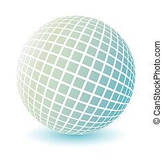 globo, vector., suave, coloreado