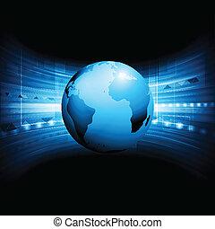 globo, vector, tecnología, plano de fondo
