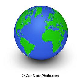 globo verde, ecología, concepto