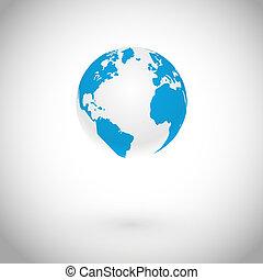 globo, vettore, simbolo