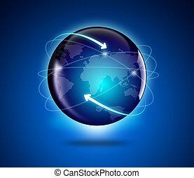 globo, y, mapa, de, el mundo