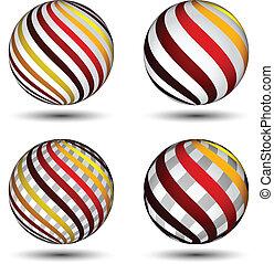globos, abstratos, vetorial