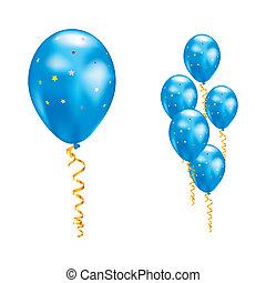 globos, estrellas, ribbons.